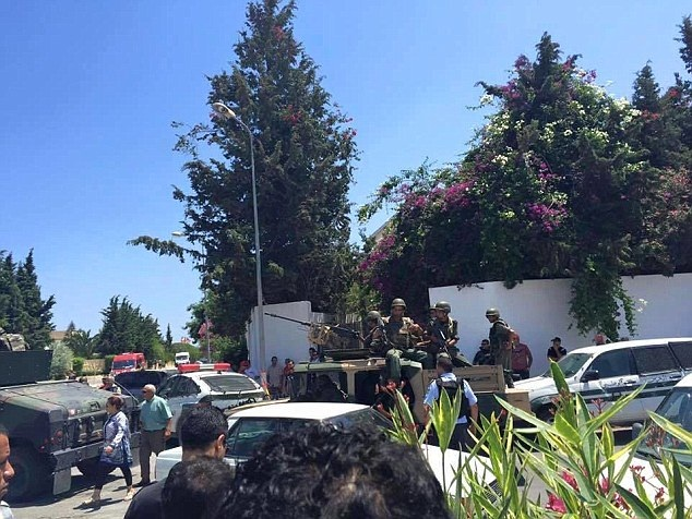 The scene after gunmen opened fire in a tourist resort in Sousse, Tunisia.